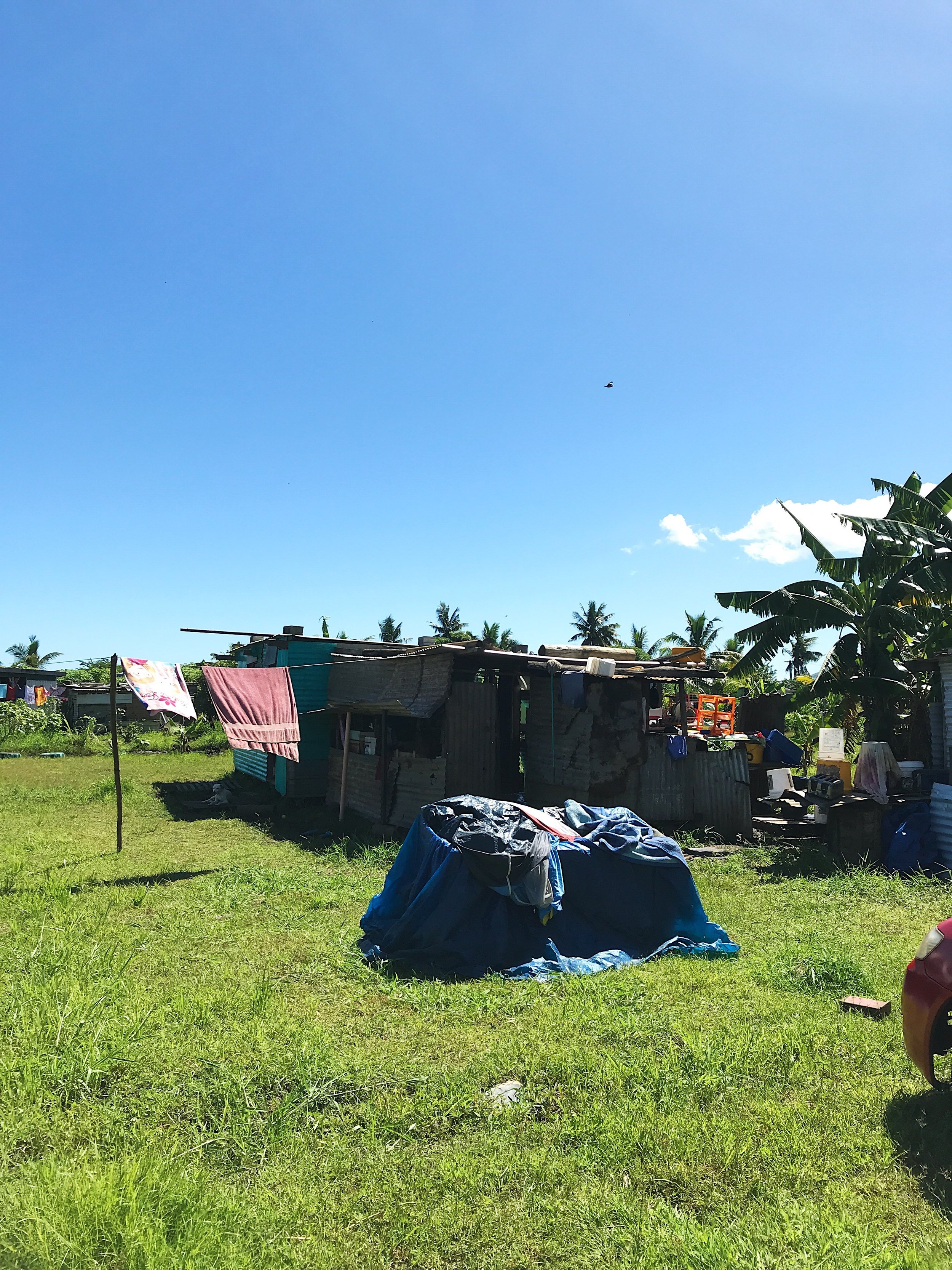 A Shanty in the Fiji community of California. This community relies almost entirely on rain water for consumption, and has been highly affected by the recent drought in the region. Photo by Yanik Rozon.