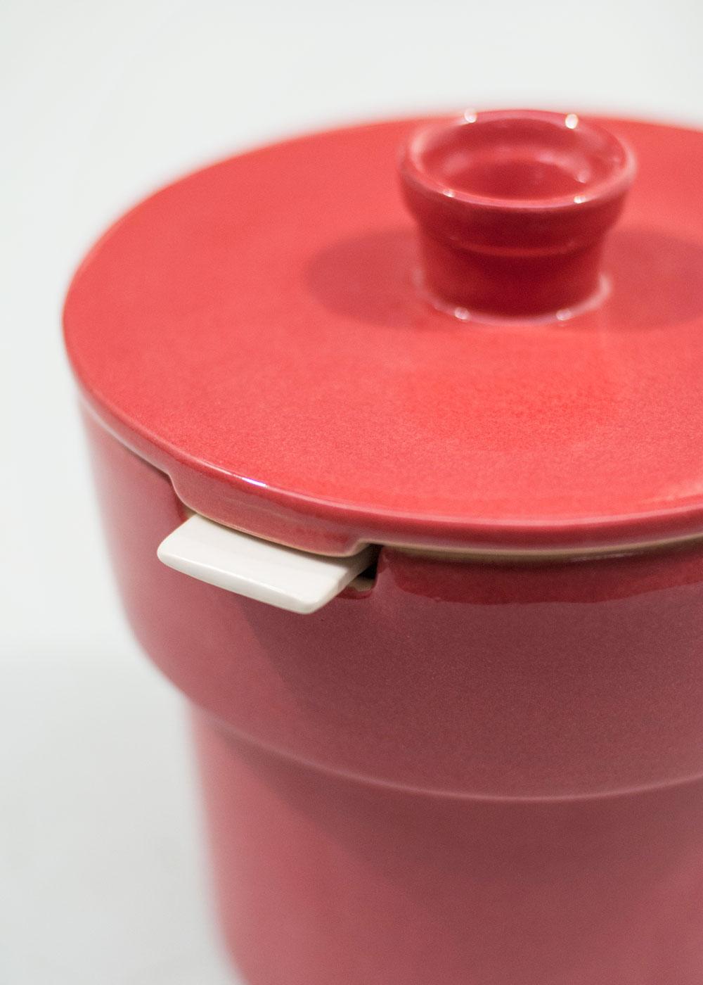 Bouchee double pot rouge