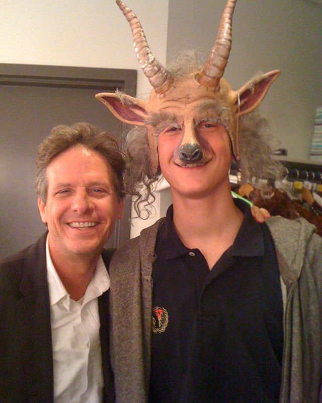 Asilly pic of Ben wearing my friend Marty Moran's costume on a visit backstage during a WICKED tour years ago. Please go see Marty's show ALL THE RAGE at The Barrow Group thru 10/5.  It is stunning, funny and brilliant; just like Marty.