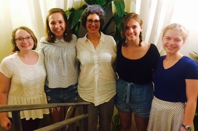 Creative Writing students with their faculty, Naomi Guttman.