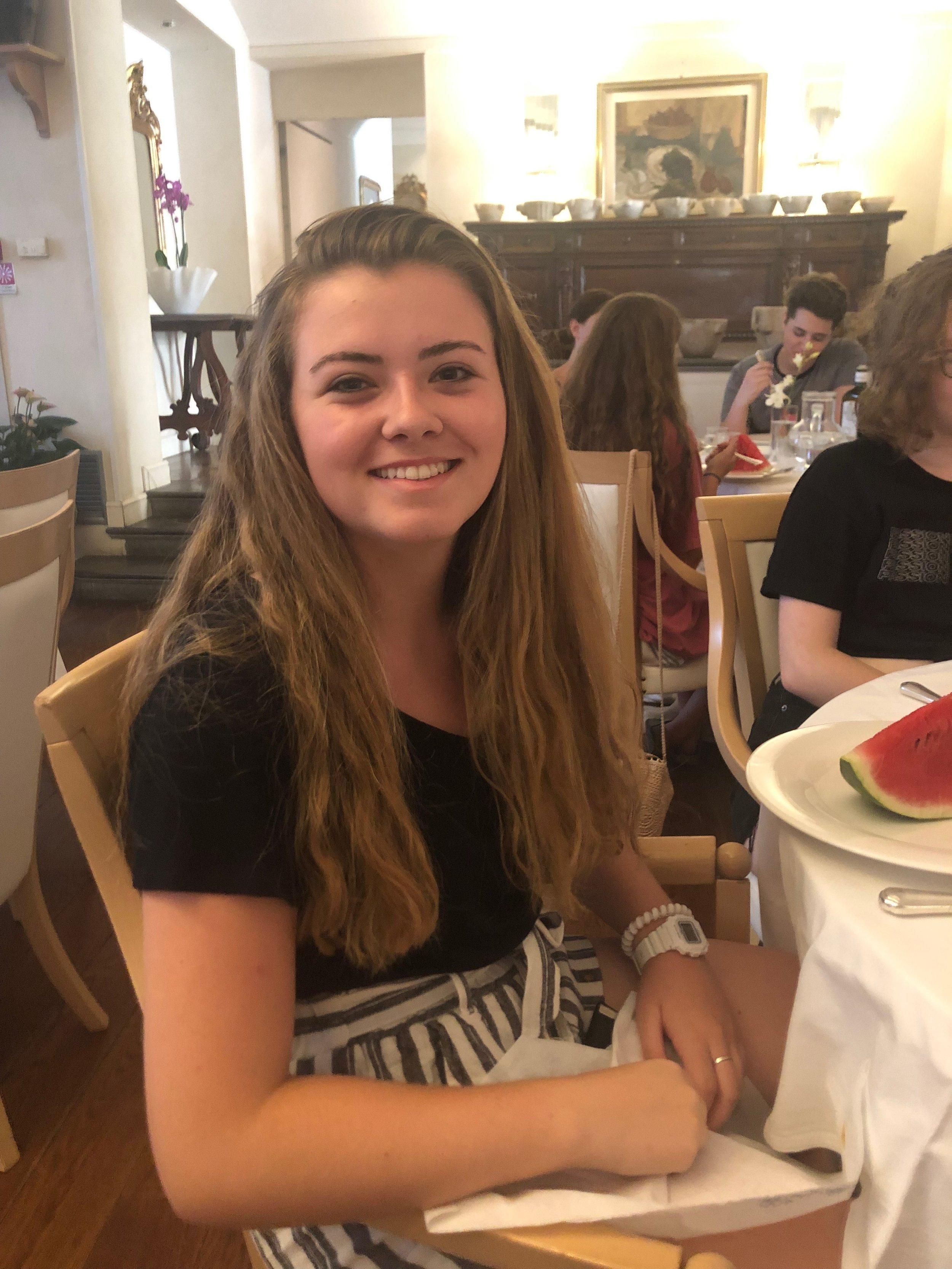 Sarah - StringsFavorite Gelato: LimoneFavorite Piece She's Working On: Bruch Violin ConcertoFavorite Spot in Spoleto: Piazza del Mercato