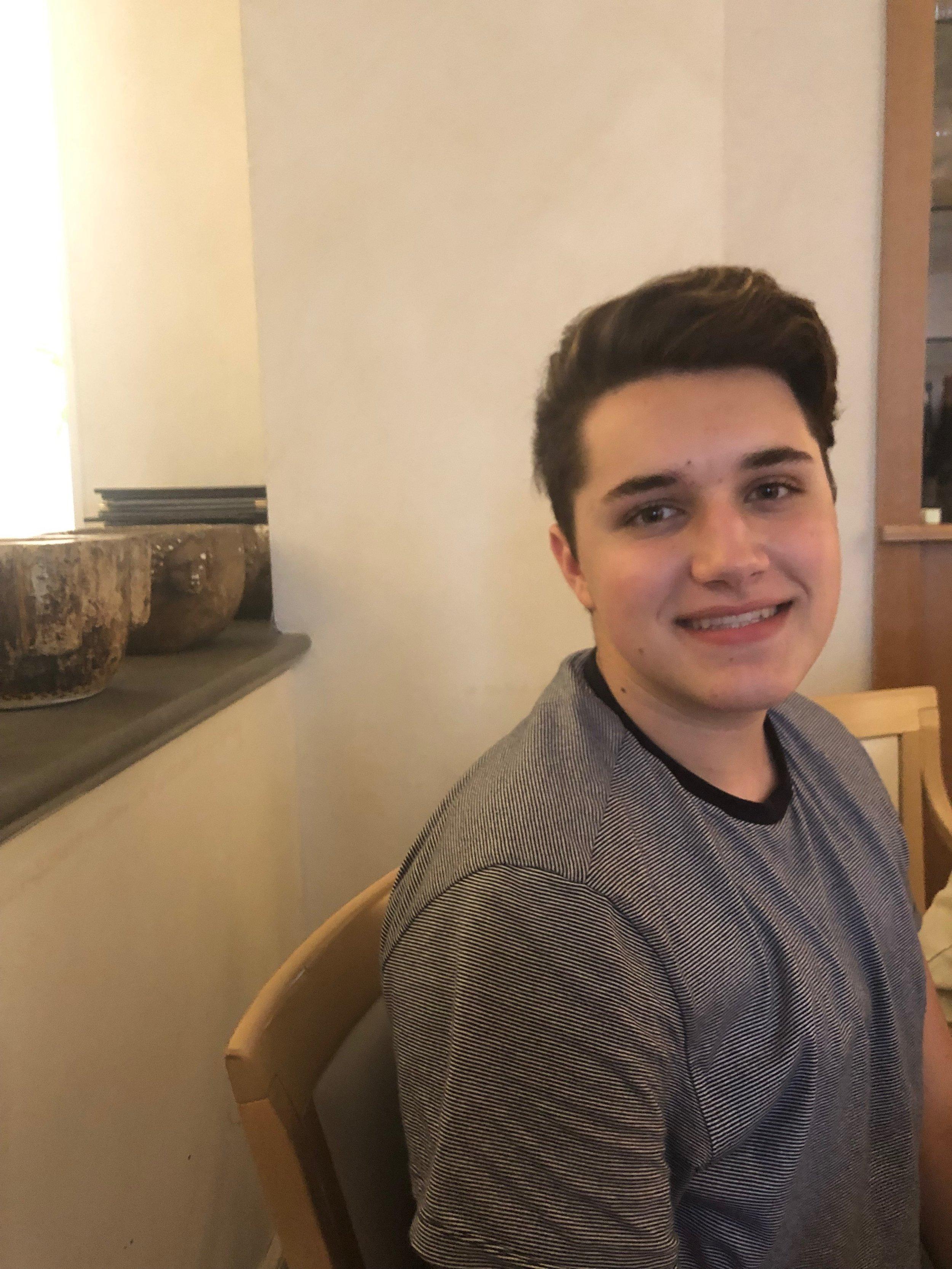 Nick - Favorite Gelato: Cioccolato e CaffèFavorite Piece He's Working On: Pur ti miroFavorite Spot in Spoleto: Crispini Gelateria