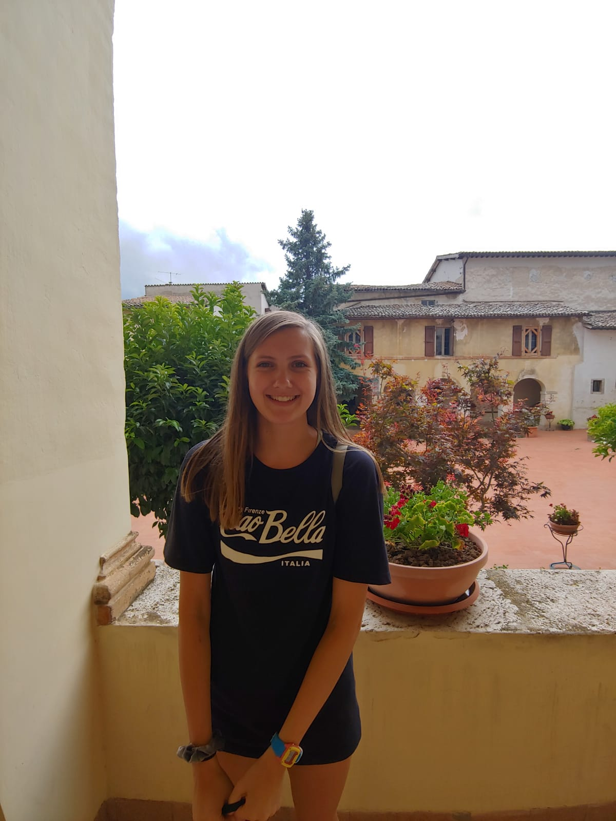 """ABBY- PHOTOGRAPHY 1) What inspires you here in Italy? """"The friendly people.""""    2) What artist are you interested in right now? """"Cartier-bresson""""    3) What is your favorite dessert/food in Italy? Nutella and Strawberry Gelato."""""""