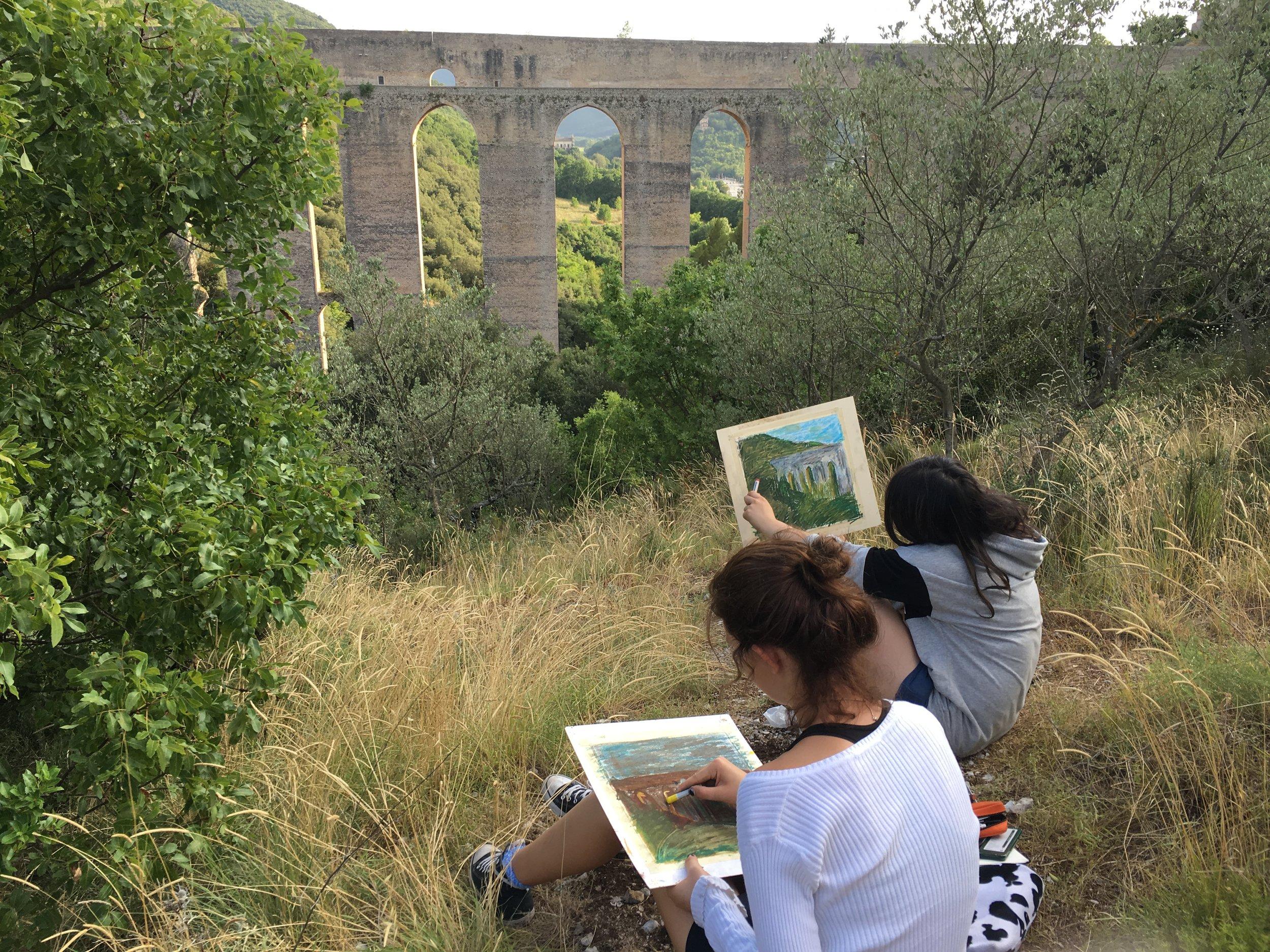 Landscape painting at Ponte del Torre!