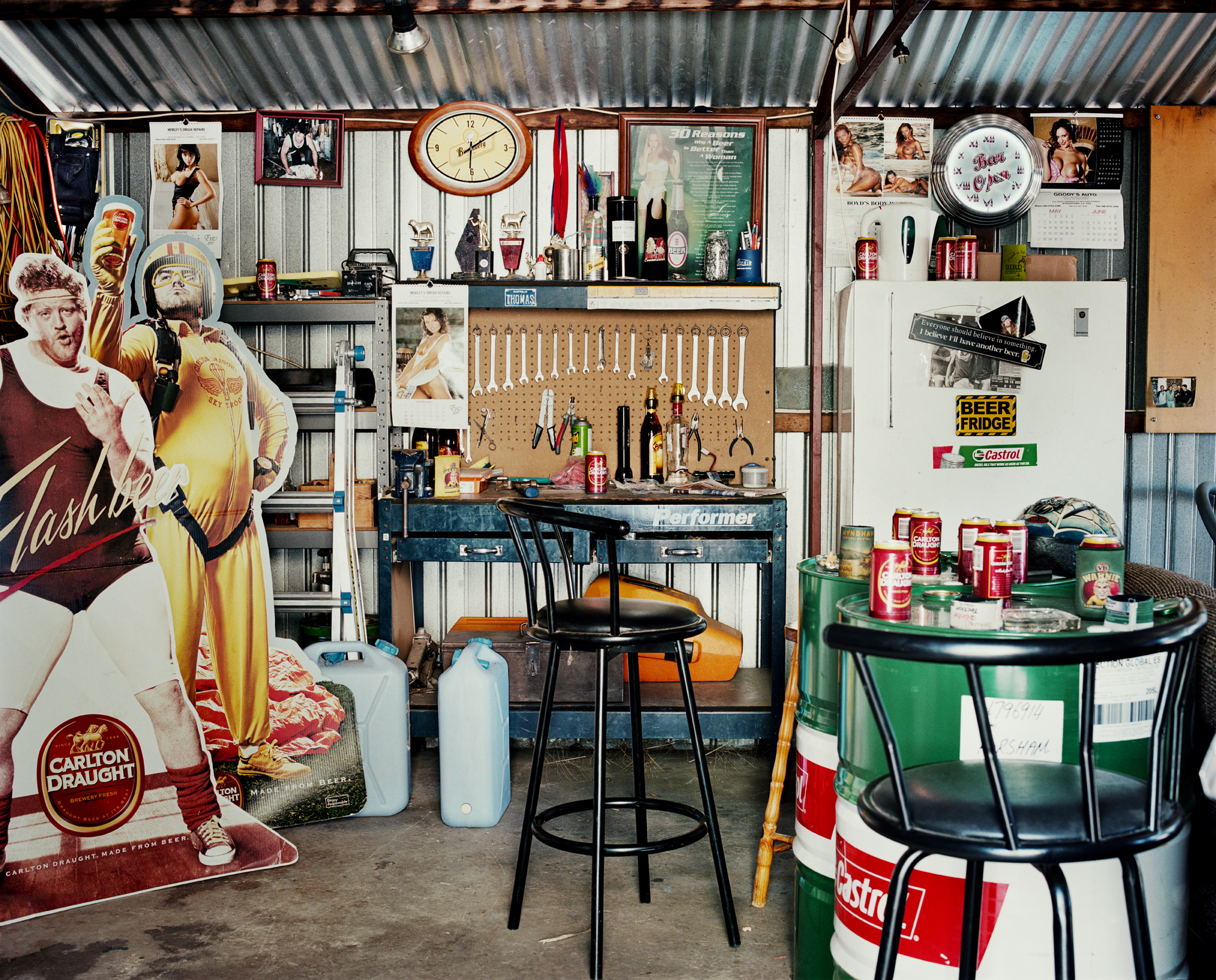 - Shawn's Shed -  Medium:  Lambda print  Edition:  2/6    plus 2 artist's    D:  109 x 134 cm / 43 x 53 in (framed)