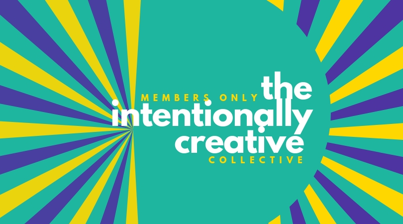 Are you a creative person who isn't creating lately? - Introducing the Intentionally Creative Collective, my signature membership program built around healing our creative hearts. Have you suffered from creative paralysis? Mounting self doubt and guilt etc? Click the button below!