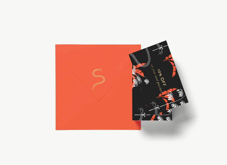 sam - gold-foil-pattern-orange-envelope-design-loolaadesigns.png