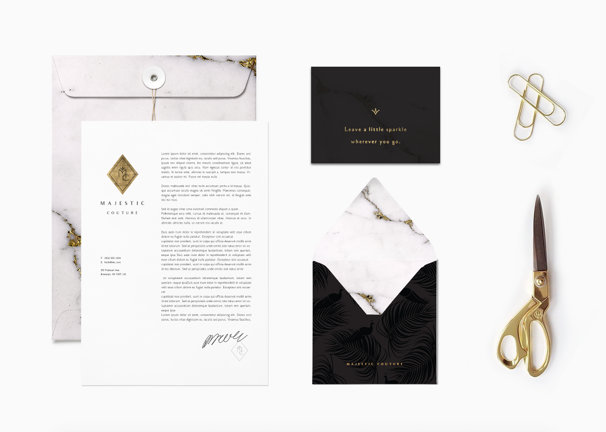 Majestic Couture branding