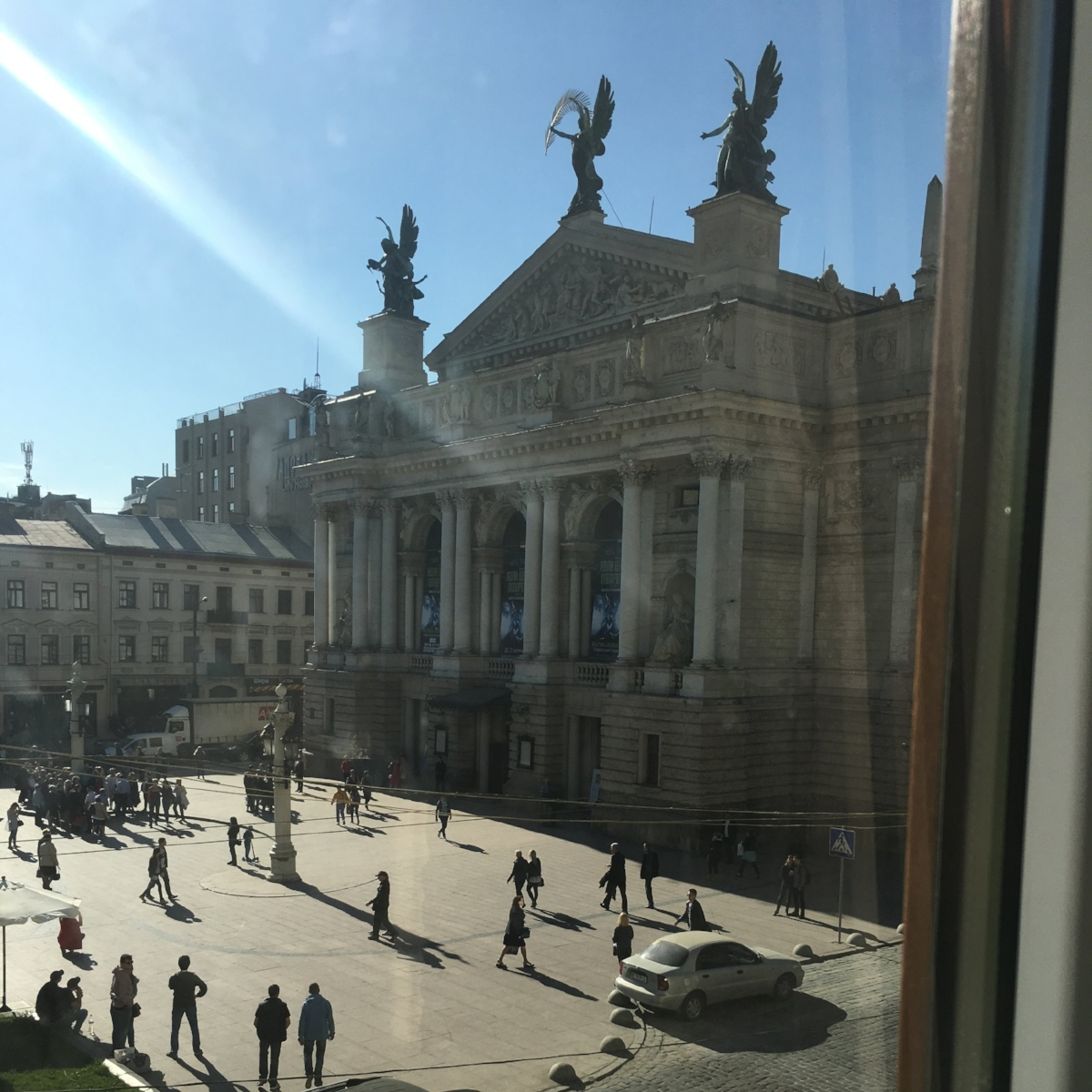 The view from our Airbnb in L'viv