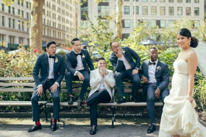leslie te and groomsmen