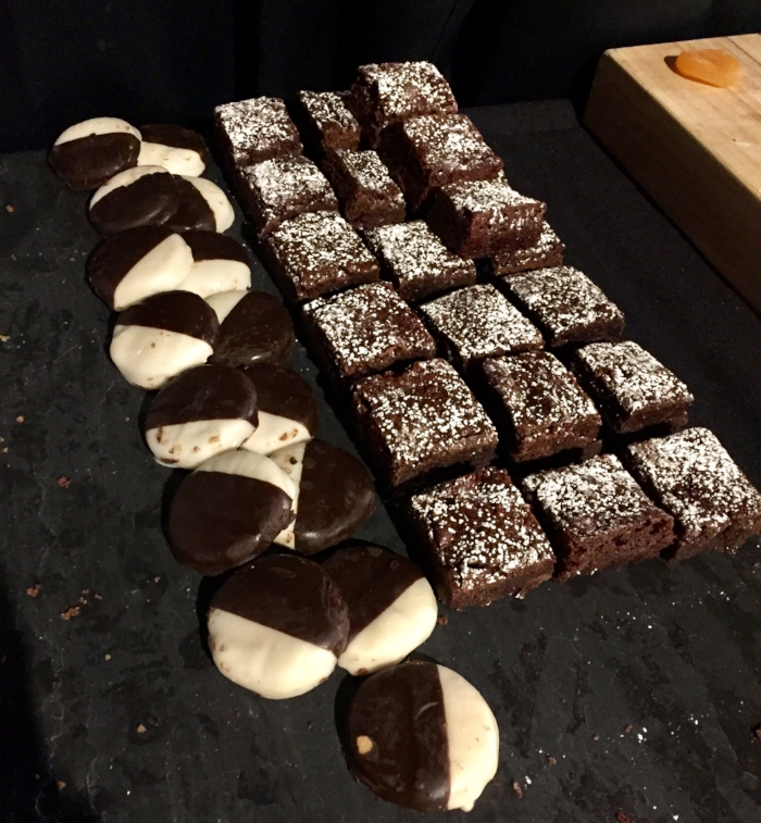 black & white cookies brownies