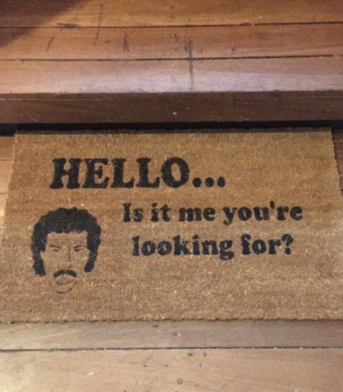 Lionel Richie doormat.JPG