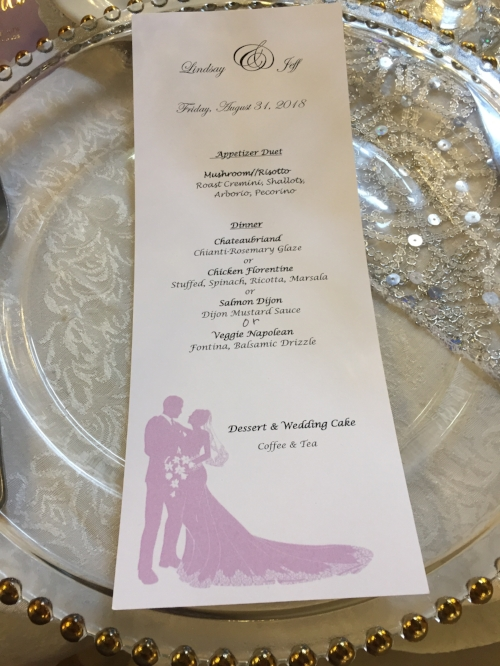 dinner menu Douglaston Manor
