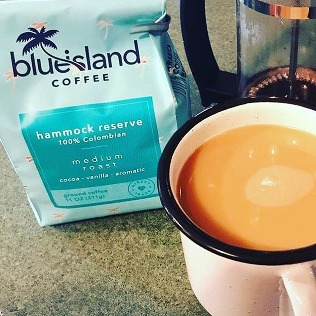 Happy Monday! #BlueIslandCoffee is available at @heb throughout Texas and online at LoveBlueIsland.com! ☕️
