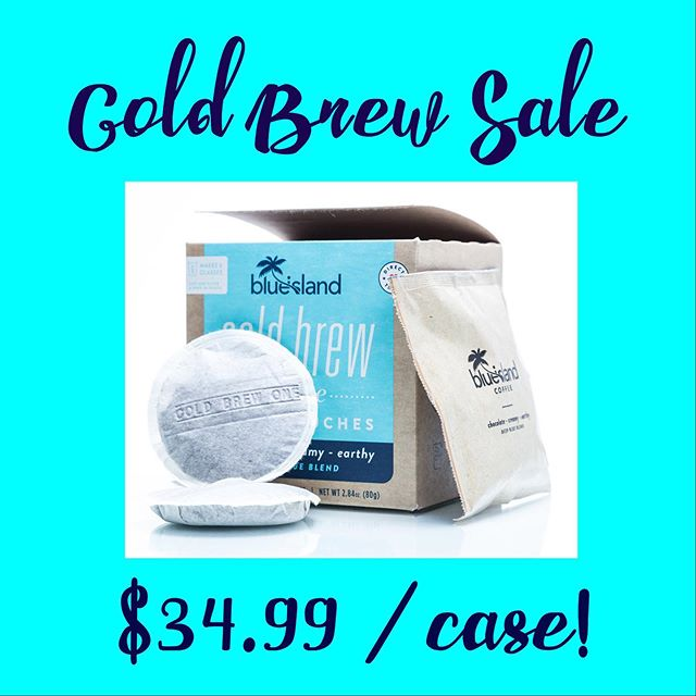 Our at home #ColdBrew kits are ON SALE! $34.99 / case (24 pods). Perfect for campus life and on-the-go lifestyles! Order yours from LoveBlueIsland.com! ☕️