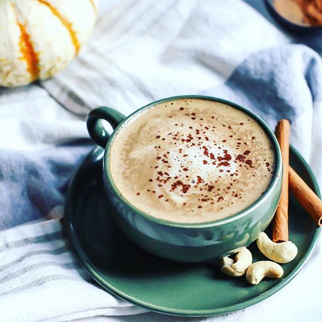 Check out this Cashew #PumpkinSpice Latte recipe from @fitmittenkitchen! 🎃 ・・・ FRIENDS! It's that time 🎃☕️ Had my first PSL of the season (finally) and was also reminded of this  homemade Cashew Pumpkin Spice Latte on FMK! Readers love this one 🧡 〰️ Here's what you need:  1 cup strongly brewed coffee (I used fresh/hot) 1/3 cup cashews* – raw or unsalted roasted  2 large medjool dates, pitted (or maple syrup) 3 TBS pumpkin puree (canned pumpkin)  1/2 tsp pumpkin pie spice 2/3 cup cashew milk**, room temperature or slightly warmed (or another milk!) 〰️ Full recipe is on www.fitmittenkitchen.com ✨  TIP: when you've got leftover pumpkin from baking, save it for this drink! #PumpkinSpice #PSL #Coffee #Latte #Vegan #CoffeeLove #Barista #Fall #OrganicCoffee #BlueIslandCoffee #Pumpkin #Espresso #ColdBrew