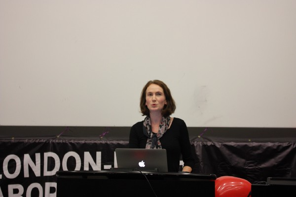 Eleanor Kelly, a convenor of the Media/Communications group updated the crowd on their recent developments