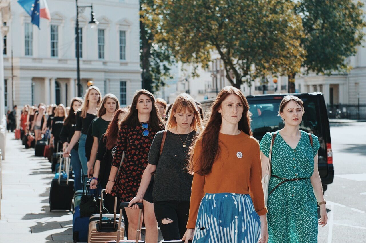 Women march to Irish Embassy in London (Credit Alastair Moore)