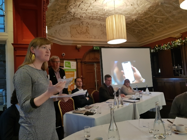 Our Deirdre Gormain addressing the Irish in Britain AGM