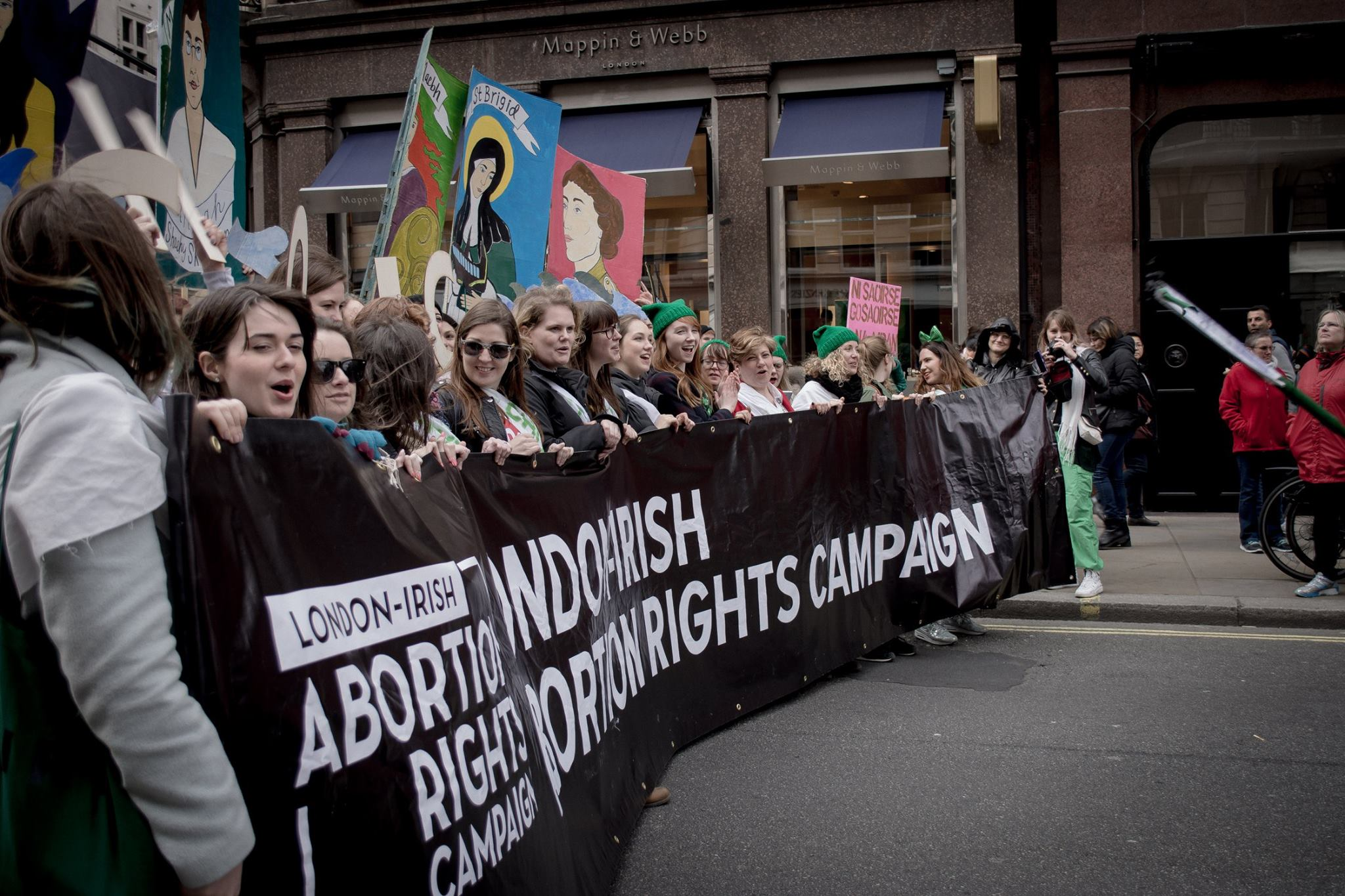 London-Irish Abortion Rights Campaign in the St Patrick's Day Parade, London, with MP Emily Thornberry (2017)