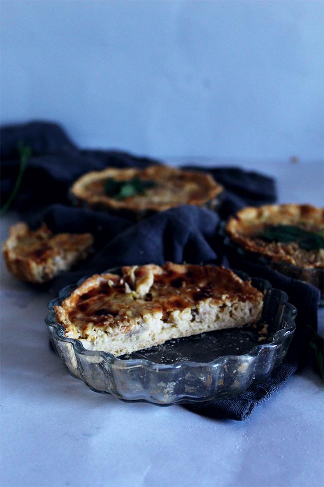 Chicken and vegetables tartelettes