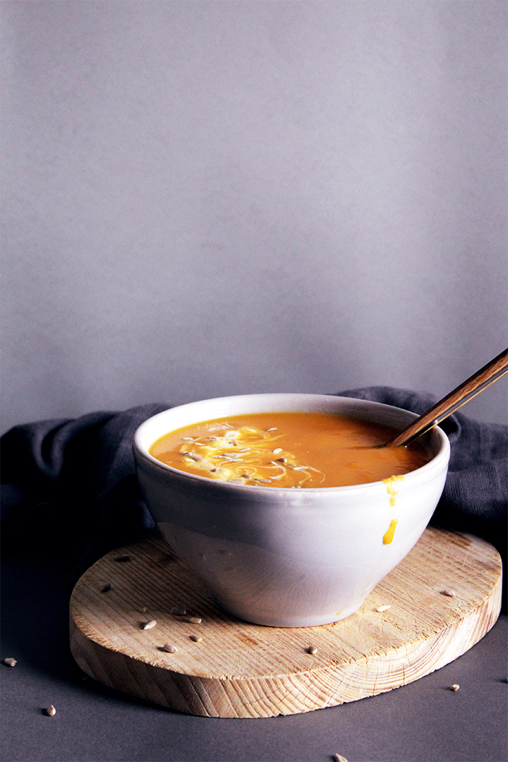 carrot, ginger and sweet potato soup