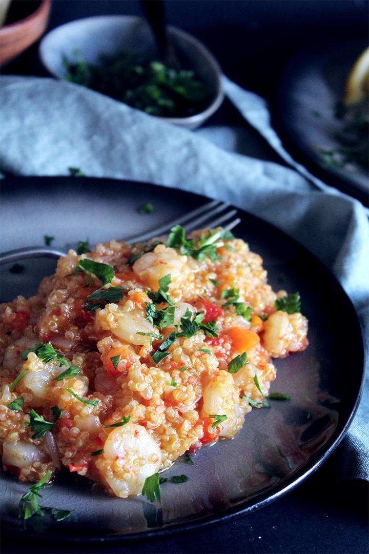 one pot quinoa with shrimp