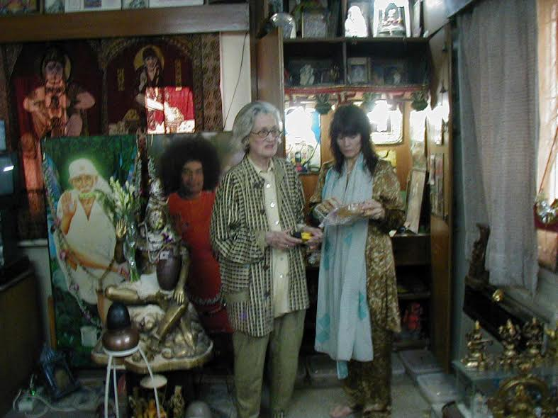 Phyllis Krystal and Daughter Sheila Receiving Shiva Lingams