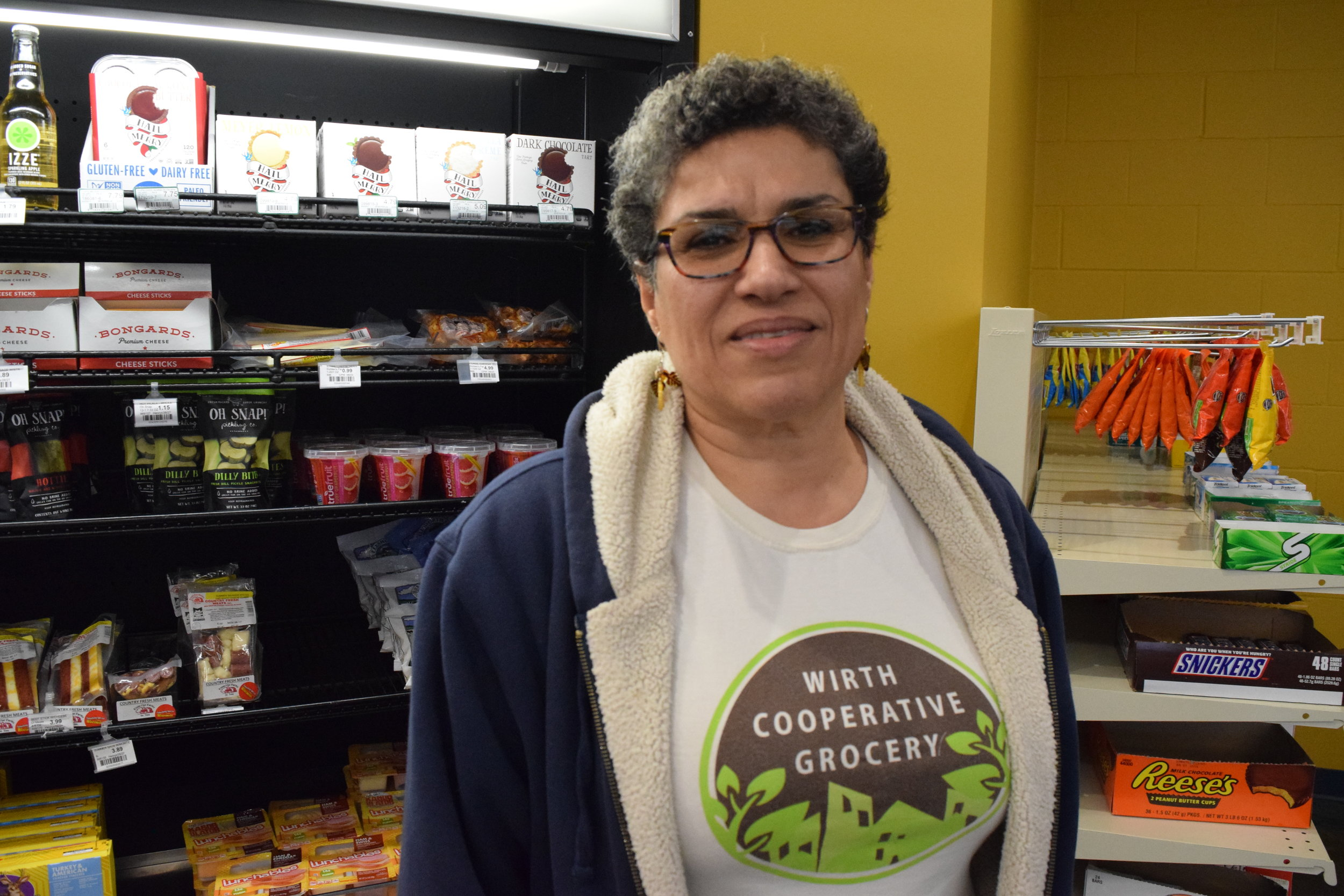 """""""I hope this will be an inspiration for people to see that a business can grow from this community and that people can feel that the co-op is theirs,"""" said Roya Damsaz, the co-op's board chair.  Photo by Cirien Saadeh."""