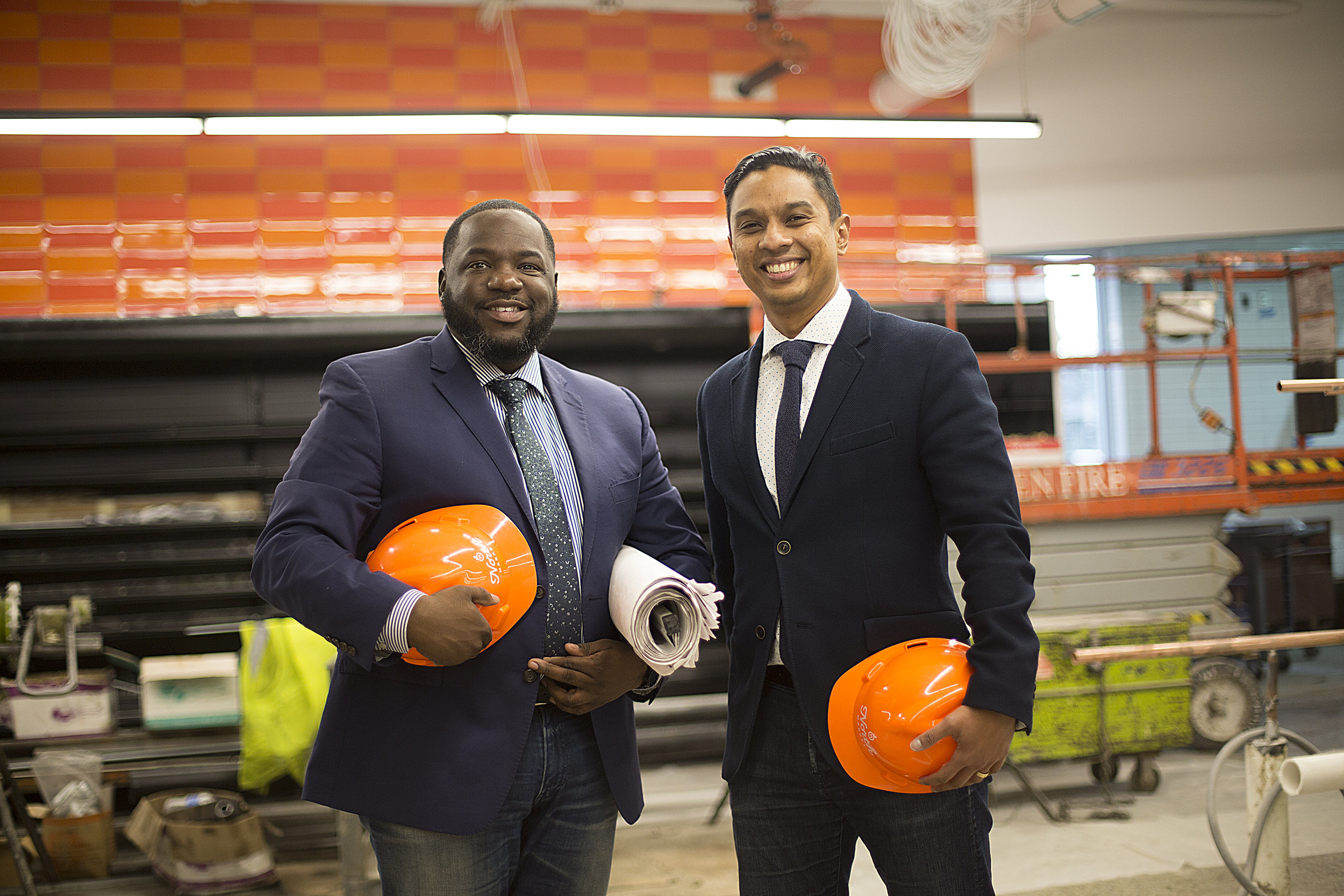 North Market project leaders, Adair Mosley and Vanan Murugesan, have spent three years bringing North Market to life.  Photo by David Pierini.