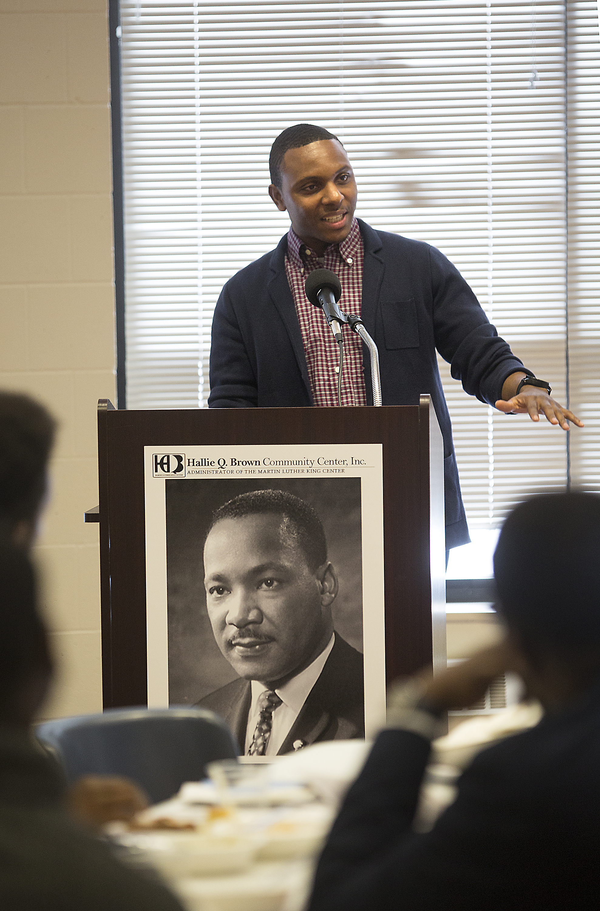 Harris speaks at his graduation from the African American Leadership Forum's fellowship program this month. Photo by David Pierini.