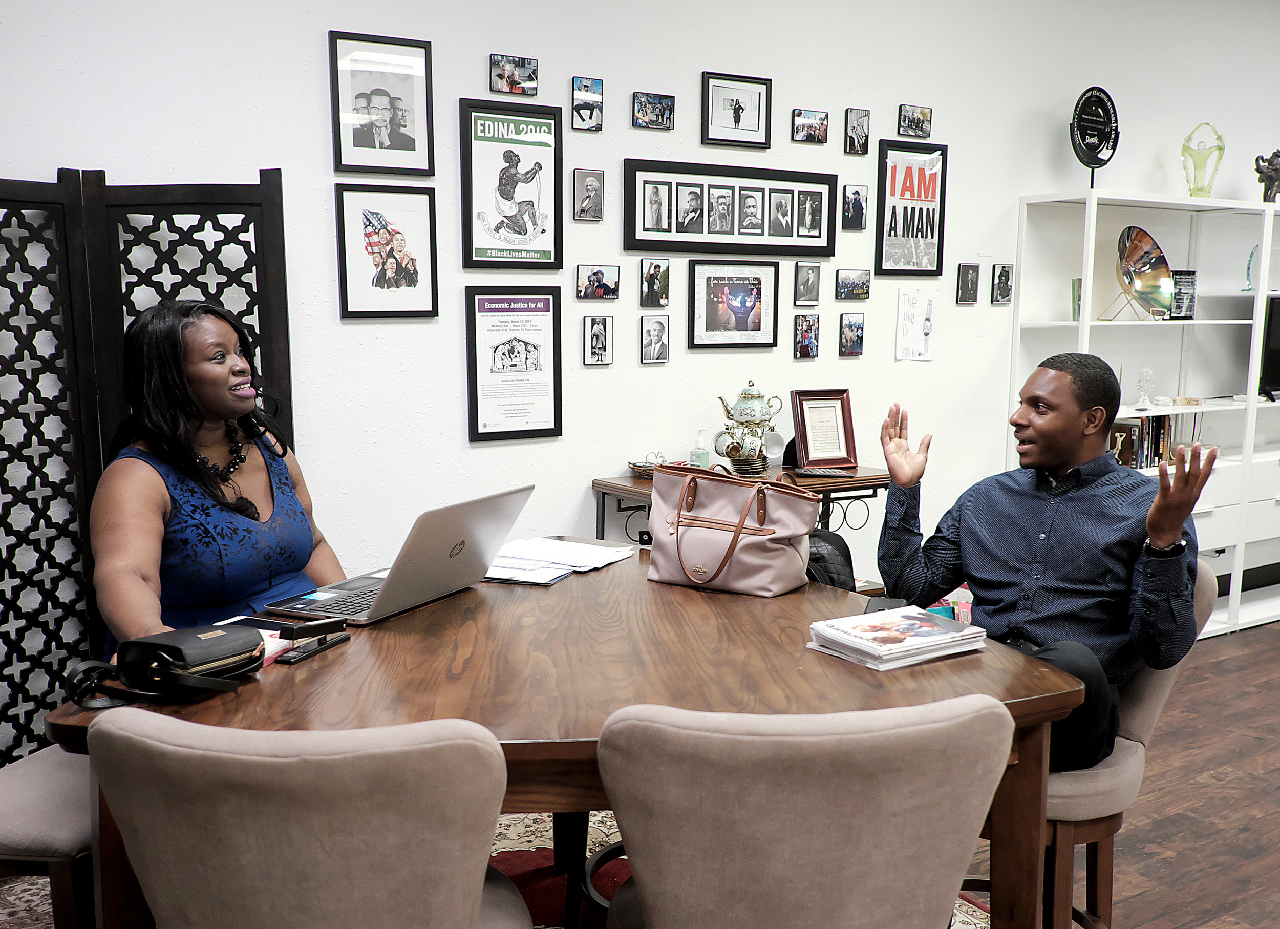 Darris served as field director for Nekima Levy-Pounds' recent mayoral campaign. Photo by David Pierini.