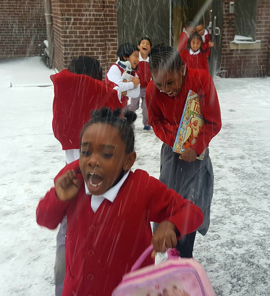 Students at Ascension School play in the snow on Monday afternoon, Jan. 22. The Catholic school students also had a snow day on Tuesday, Jan. 23. Photo by Theresa Culpert