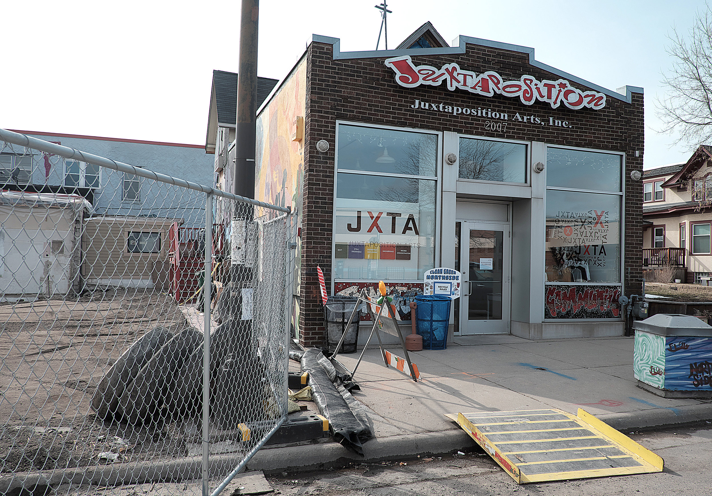 Operations continue at Juxtaposition Arts despite construction happening on its campus. Photo by David Pierini