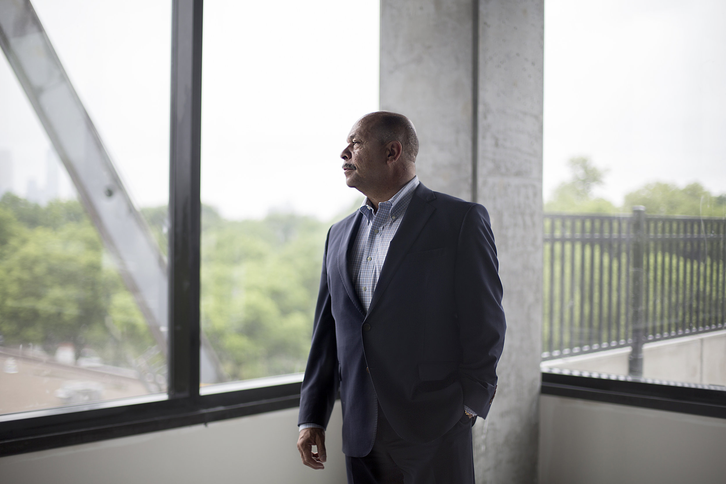 THOR Companies founder and chairman Richard Copeland is excited to have his first office with a view in THOR's new headquarters building.