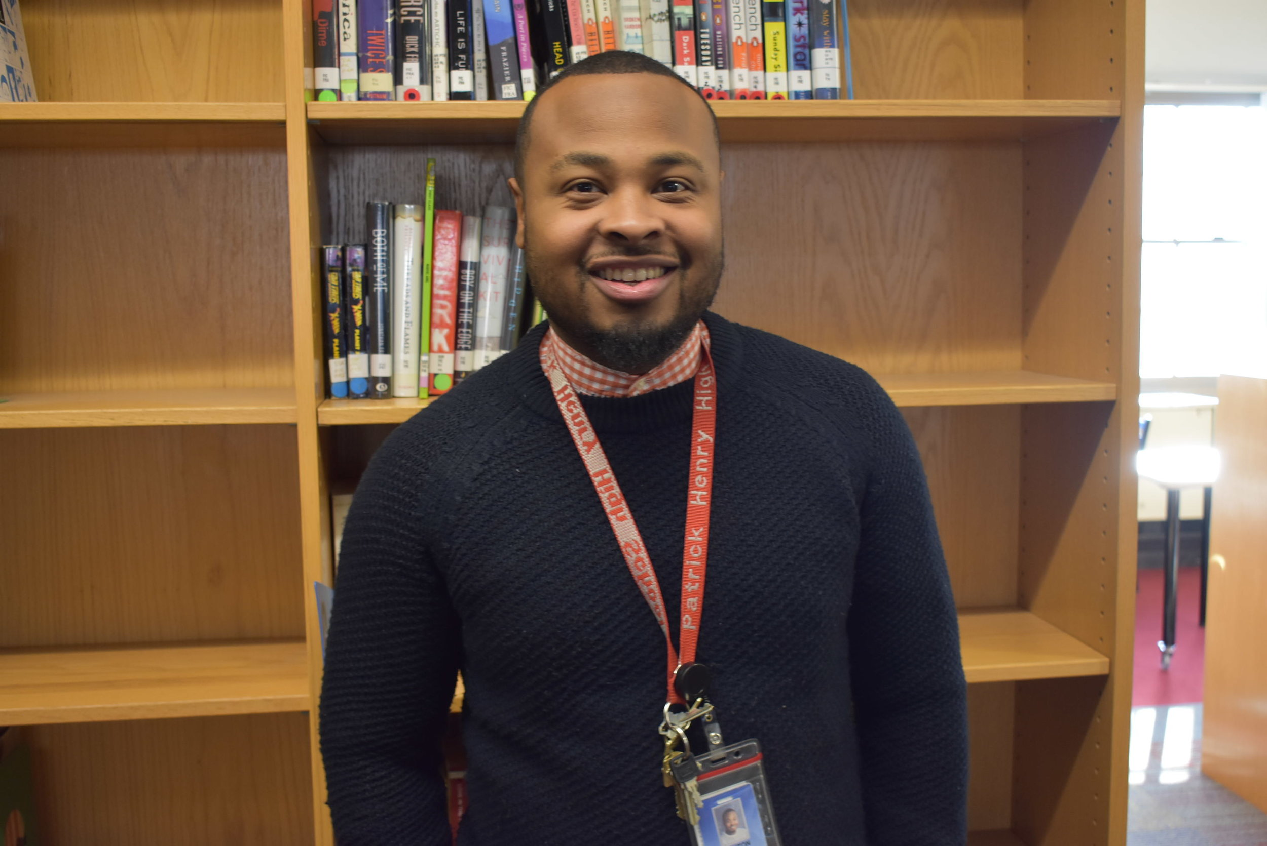 Quinton Bonds is a longtime staff member at Patrick Henry High School. Photo by Cirien Saadeh