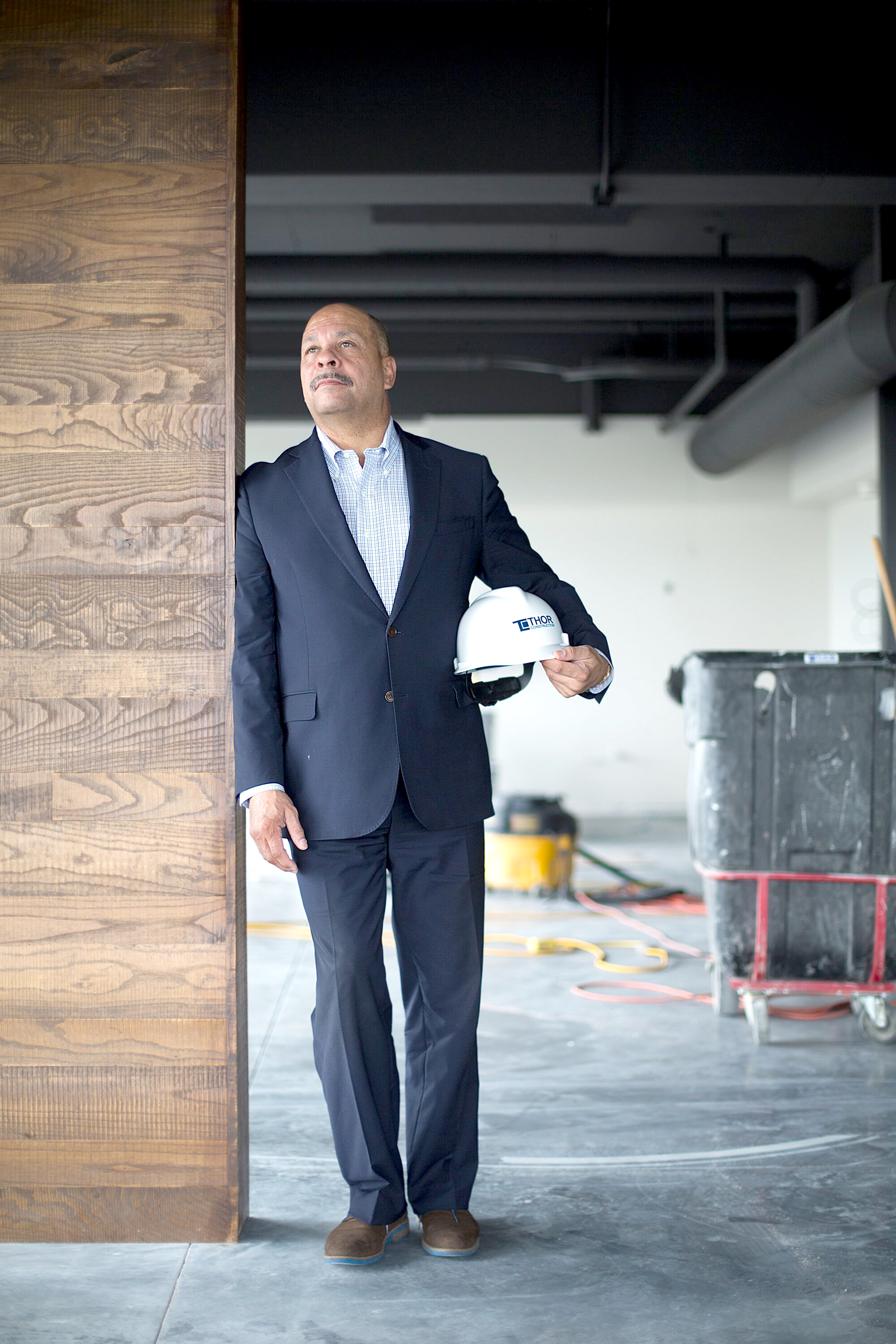 "Thor founder and board chair Richard Copeland stands in the Regional Acceleration Center just before it opened in the summer of 2018. ""Failure is something I face and run from every day. That's what has driven me to be successful: fear of failure,"" he told  North News  then.  Photo by David Pierini"