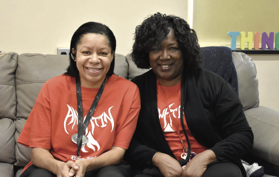 Katherine Chisley (Right)andDebraJohnson(Left) were nominated for the Educator Spotlight because of the compassion and innovation they bring to their work.  Photo by Cirien Saadeh