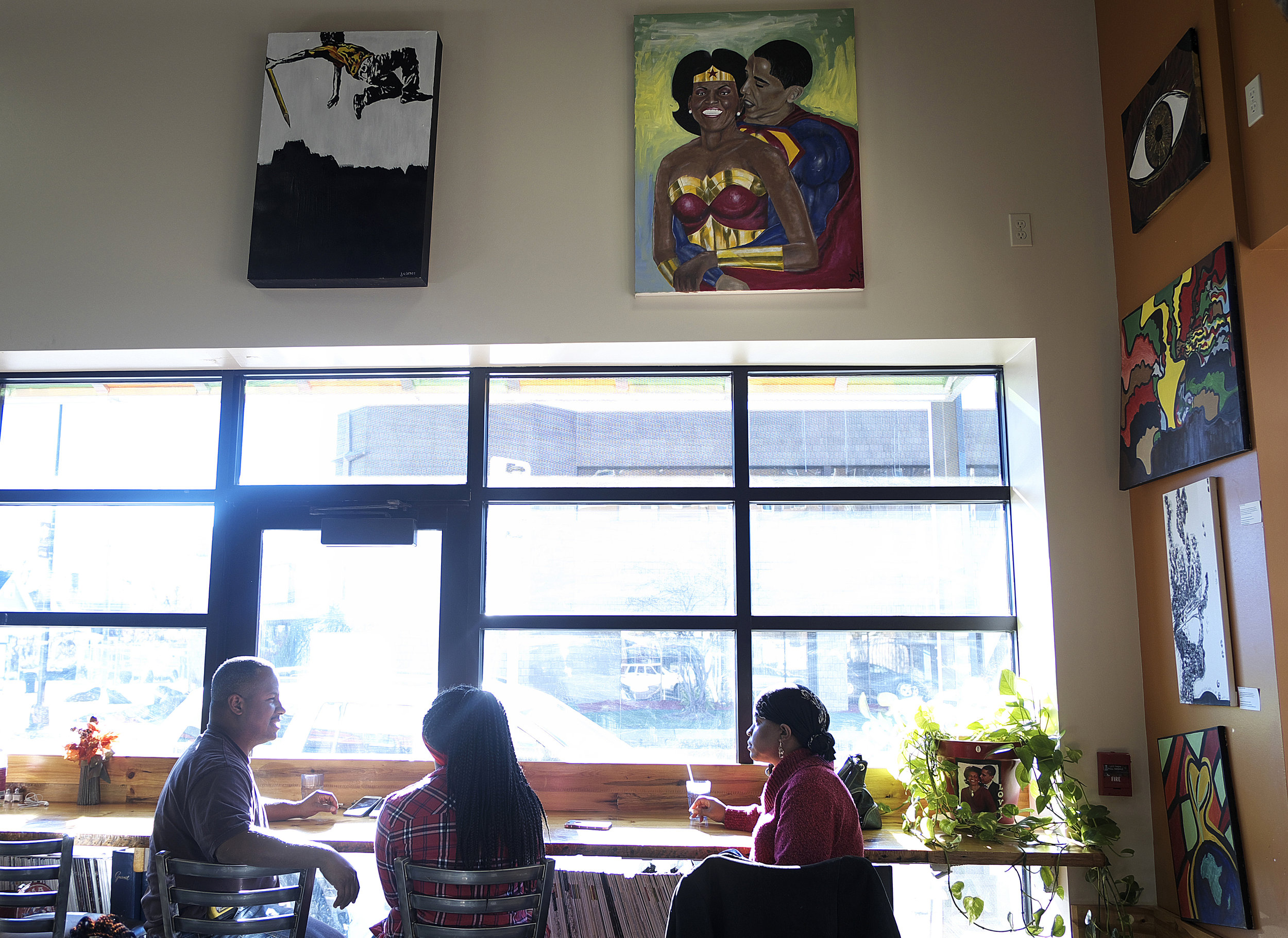Breaking Bread Cafe is one of just a handful of full service restaurants in North Minneapolis. It was founded in 2015 by Princess Titus, Latasha Powell, and Michelle Horovitz.  Photo by David Pierini