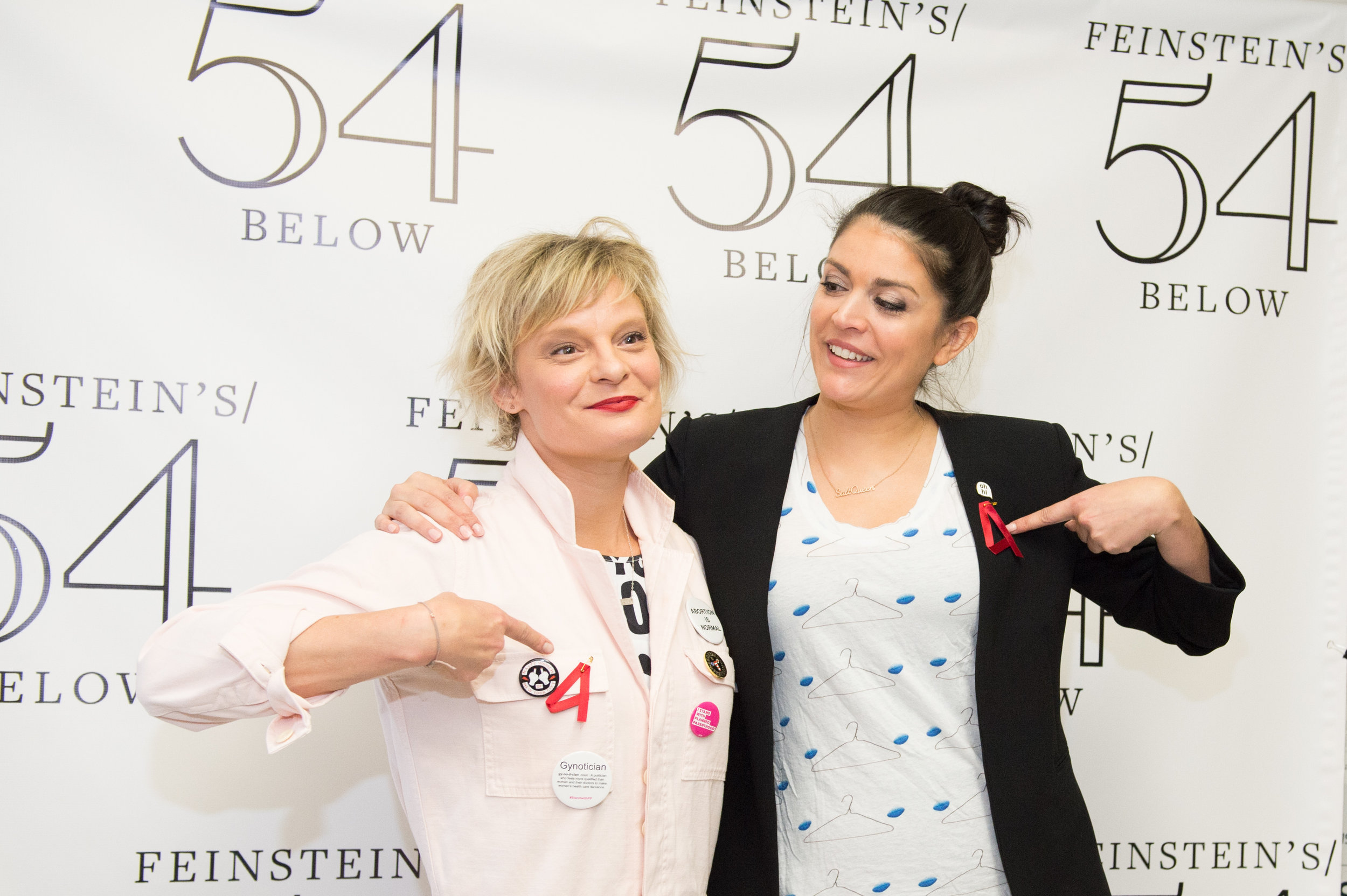 With co-host, SNL's  Cecily Strong  at   Broadway Acts for Women 2017