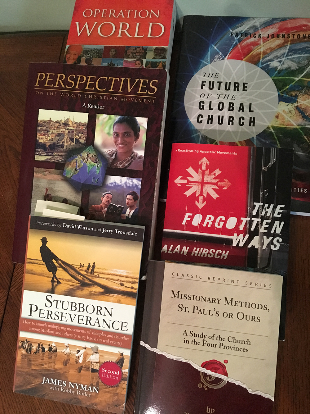 Some of the books from Jim's course