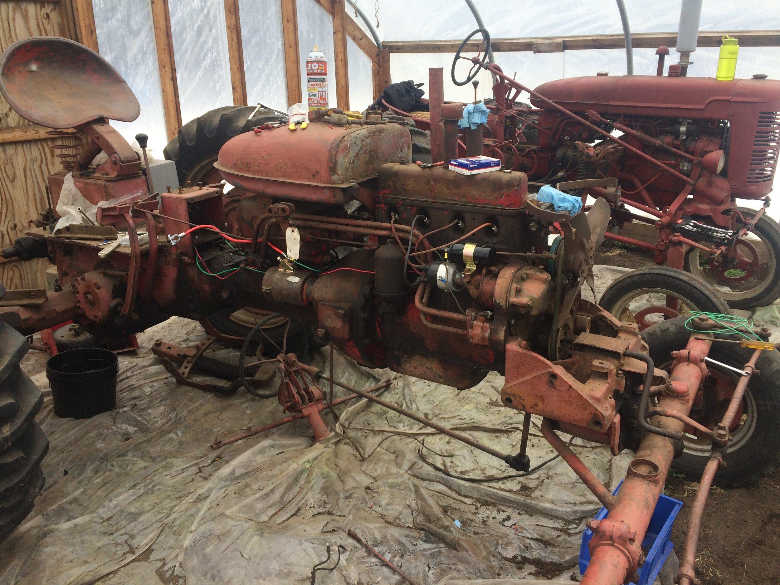 Best crop of the winter? Old tractors.