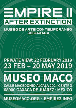 https://museomaco.org  https://museomaco.org/2019/02/20/inauguracion-empire-ii-despues-de-la-extincion/