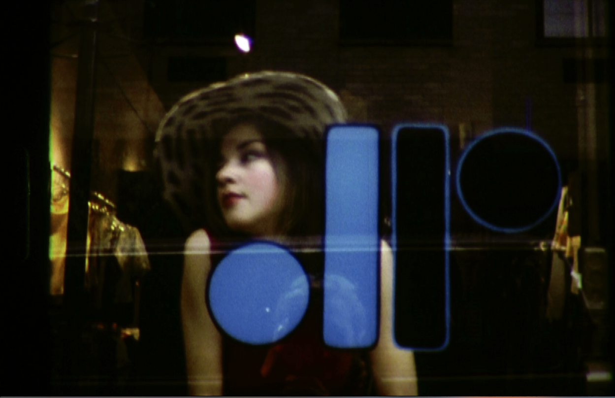 "Film Still from Super 8 Fashion Film , Dressing Room""."