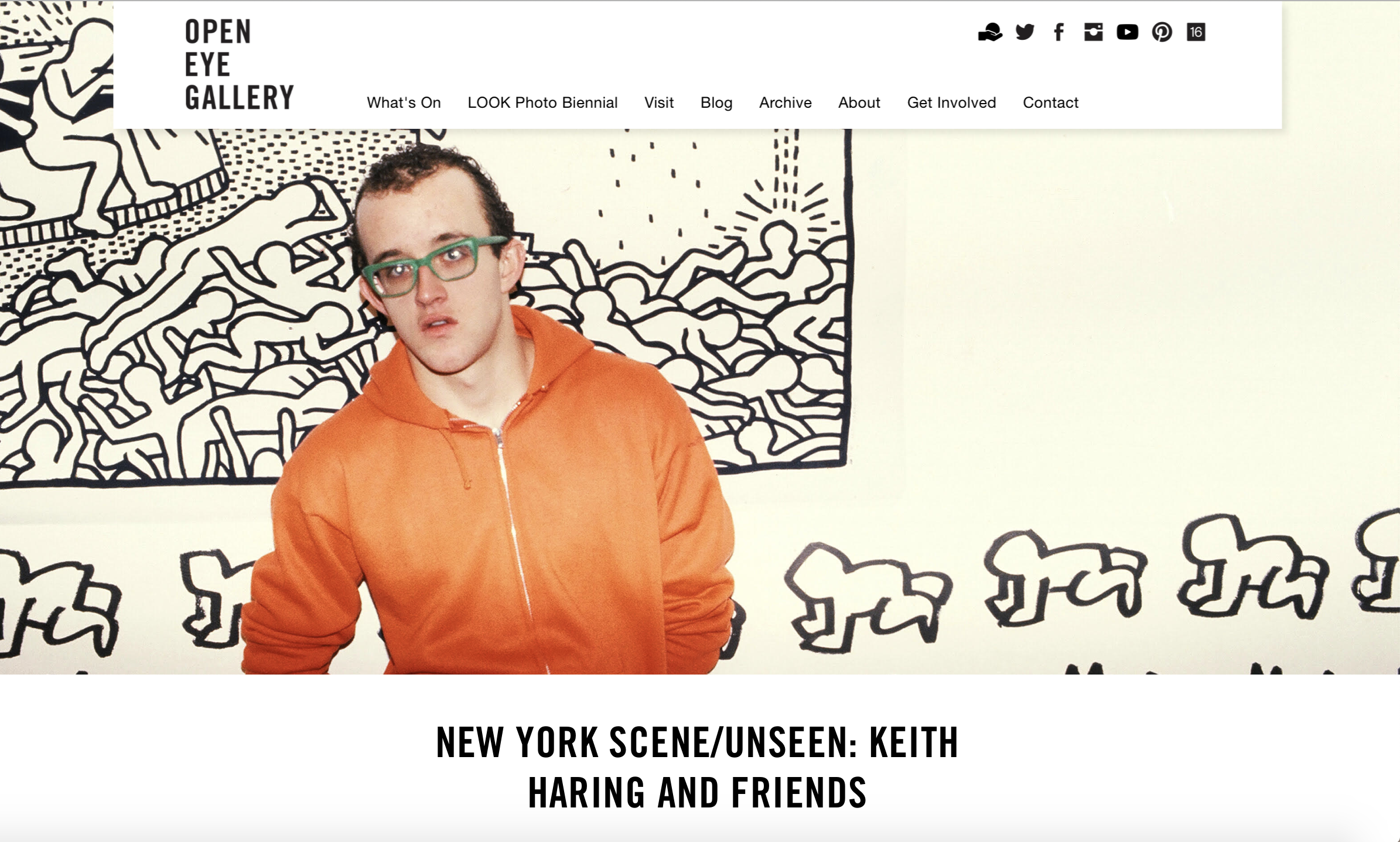 Curator : New York Scene/ Unseen Kieth Haring and Friends.  Open Eye Gallery Liverpool