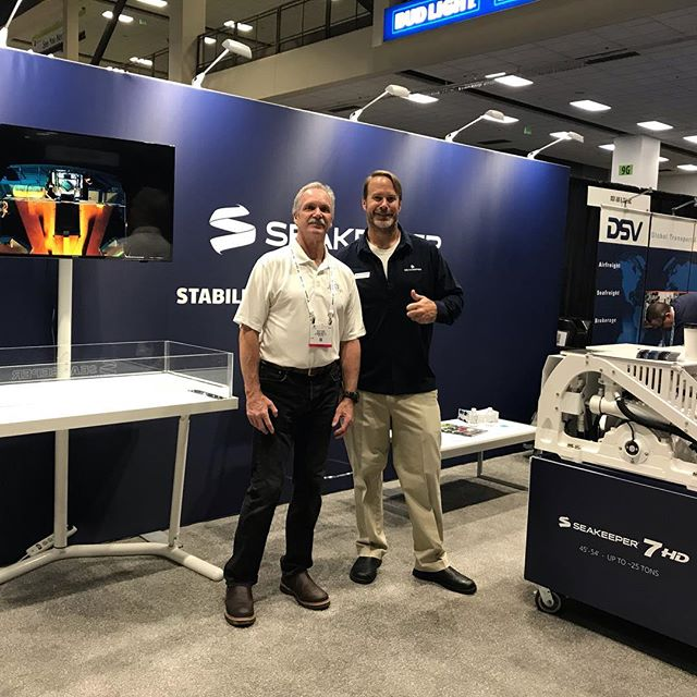 S3 Maritime teaming up with Seakeeper at the Pacific Marine Expo in Seattle last week. #seakeeper #s3maritime #pacificmarineexpo