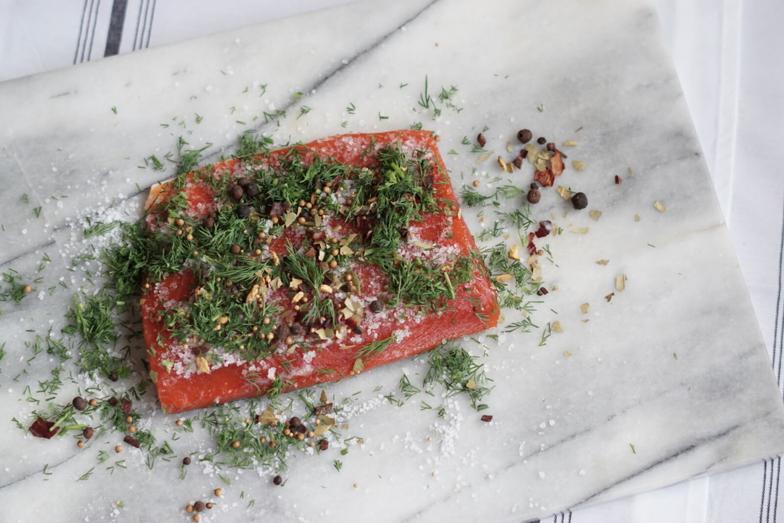 Gravlax is a type of cured salmon found in Scandinavia