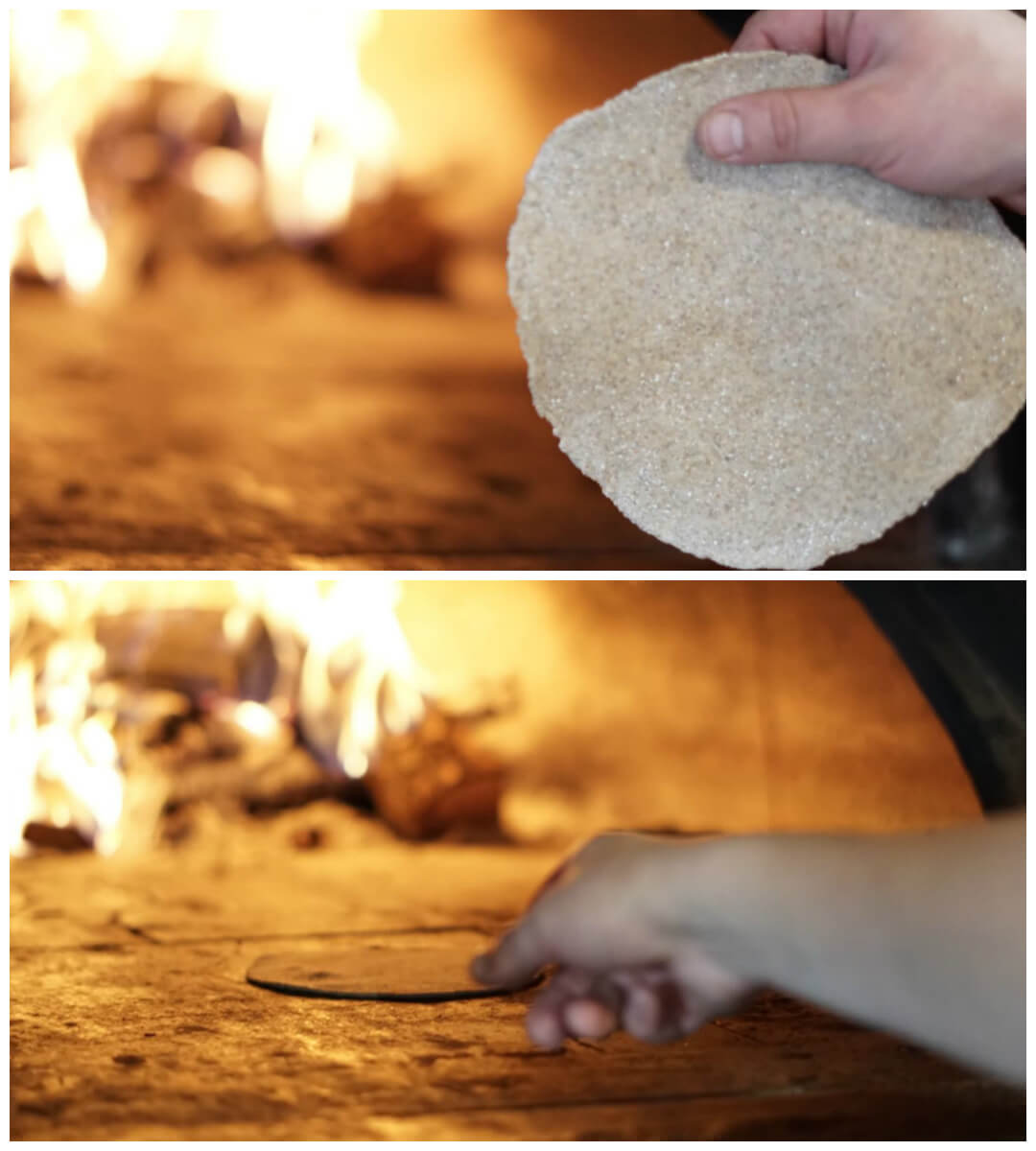 Nordic flatbread is traditionally cooked in a wood-fired oven