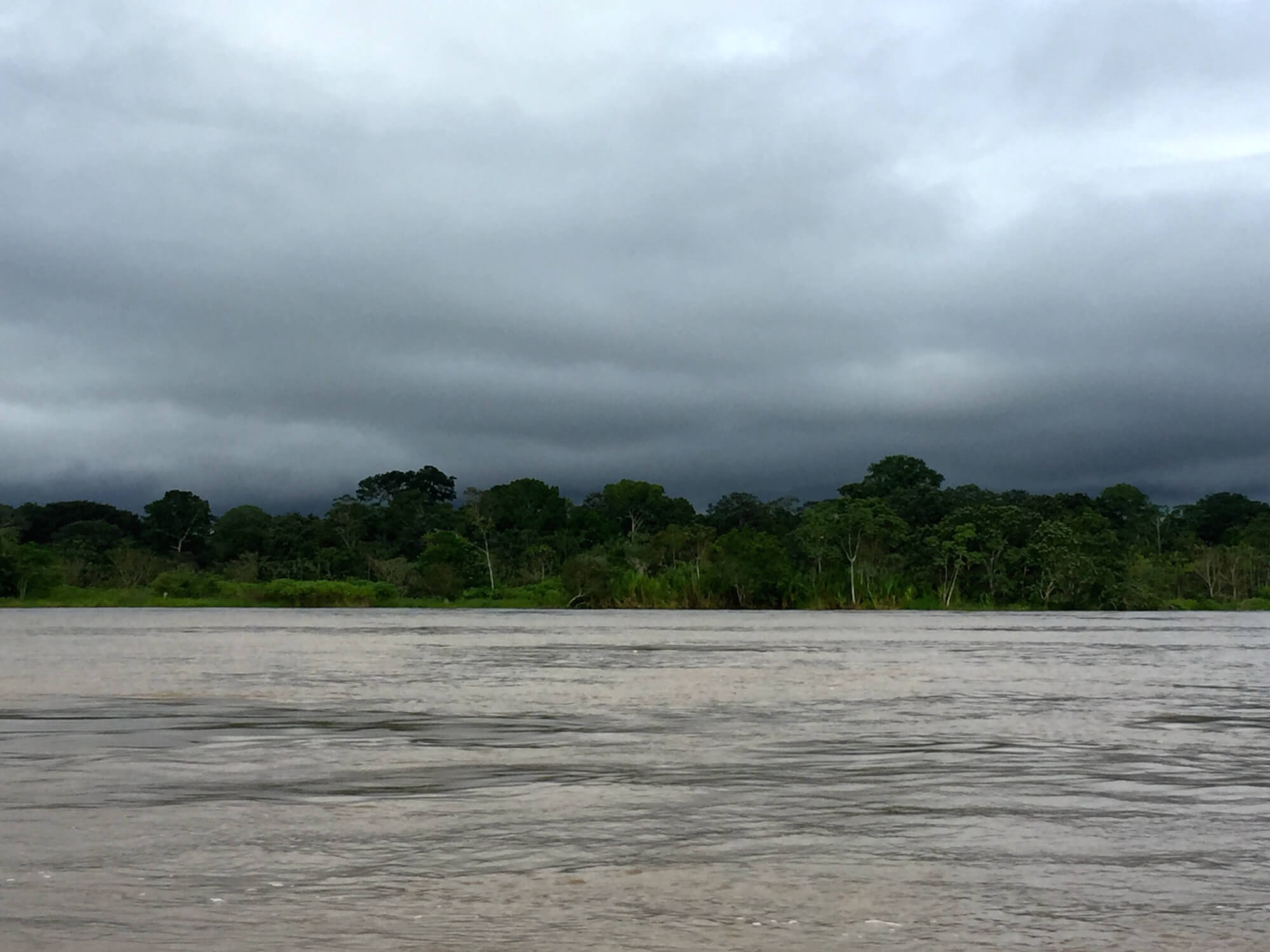 The Amazon River is wide and deep, allowing large cargo ships to sail far upriver