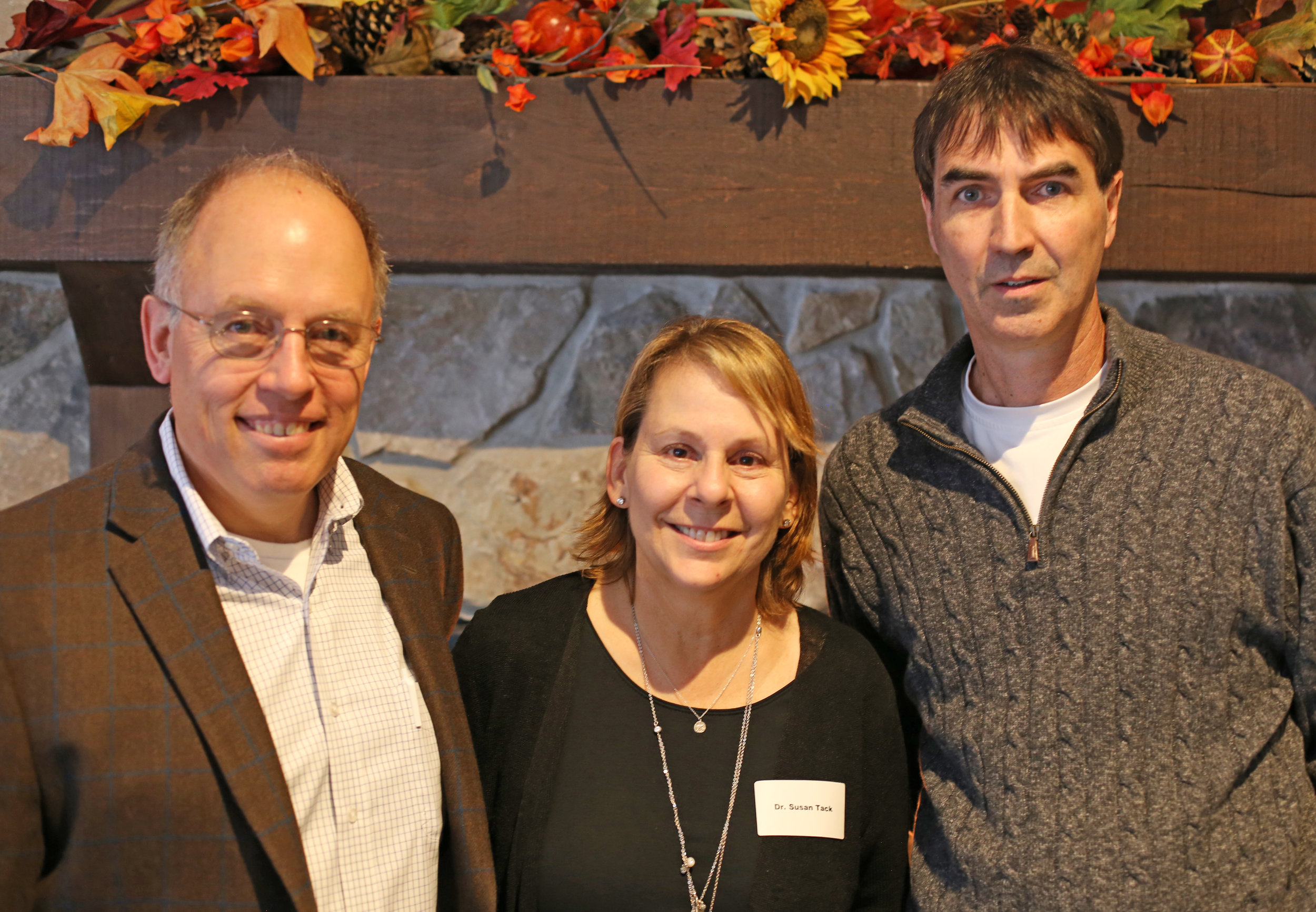 Dr. Doug Tack, Sue Tack, and Bill Byrne